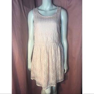 Dresses & Skirts - 💕Light Pastel Pink Lace Formal Stretchy Dress XL